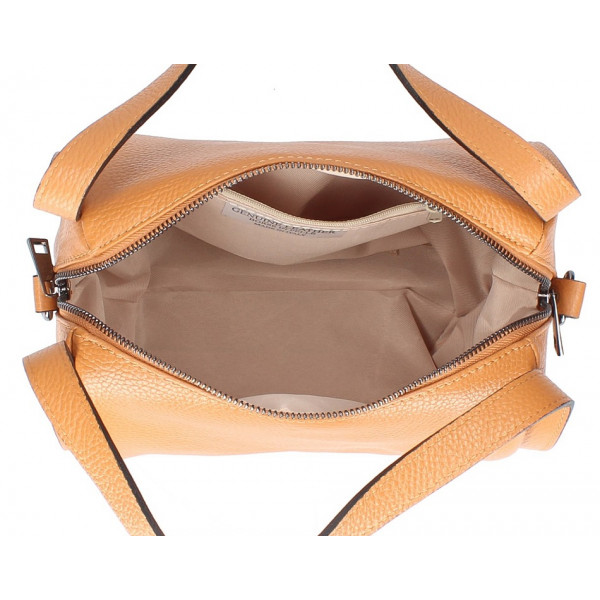 Béžová kožená kabelka 5316