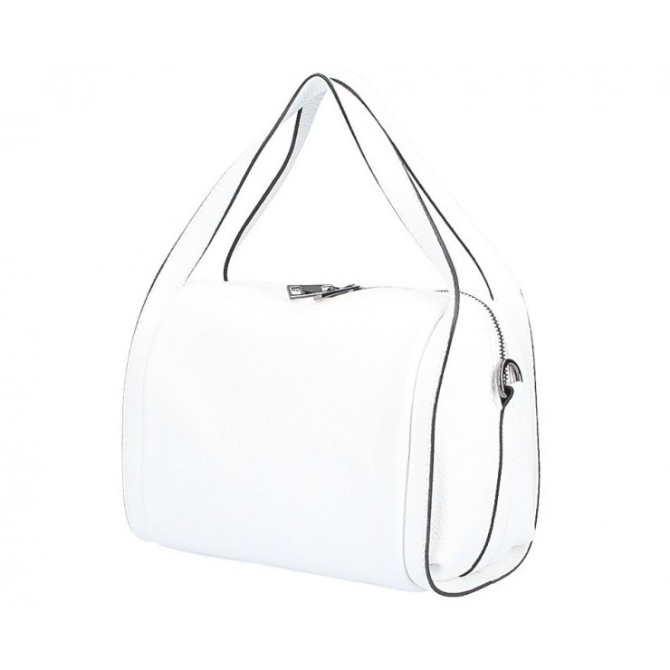 Genuine Leather Handbag 5315 white