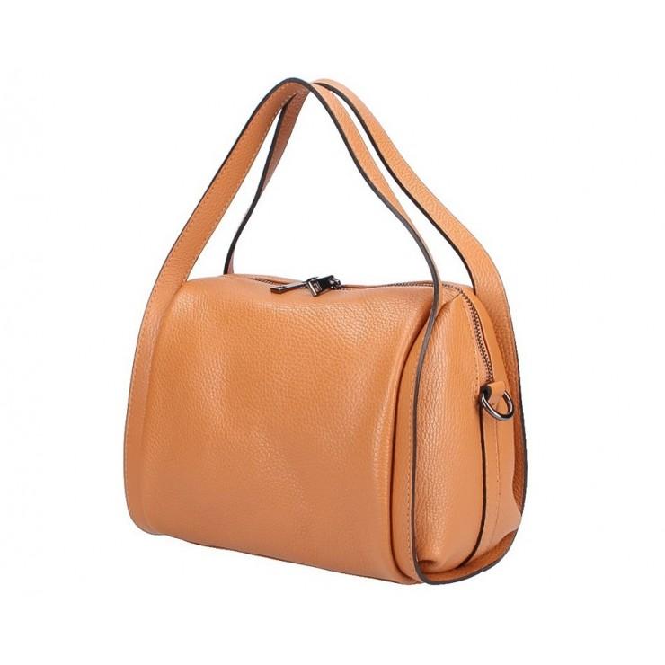 Genuine Leather Handbag 5315 cognac