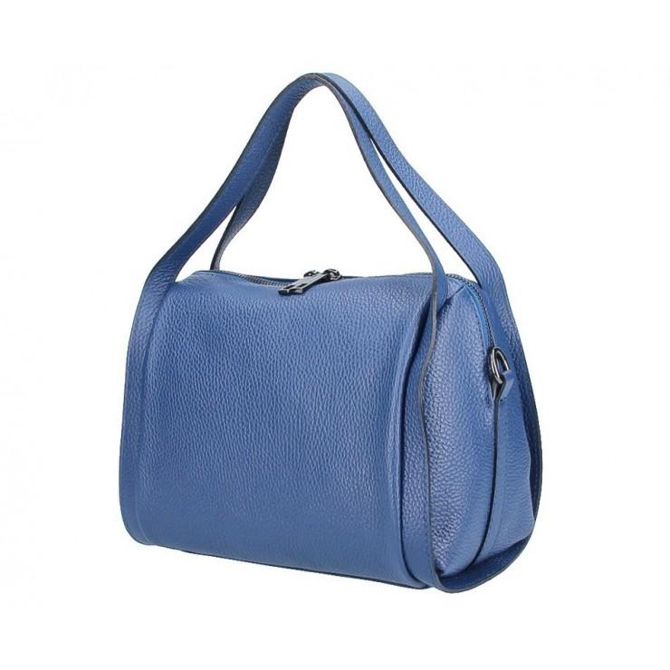 Genuine Leather Handbag 5315 blue