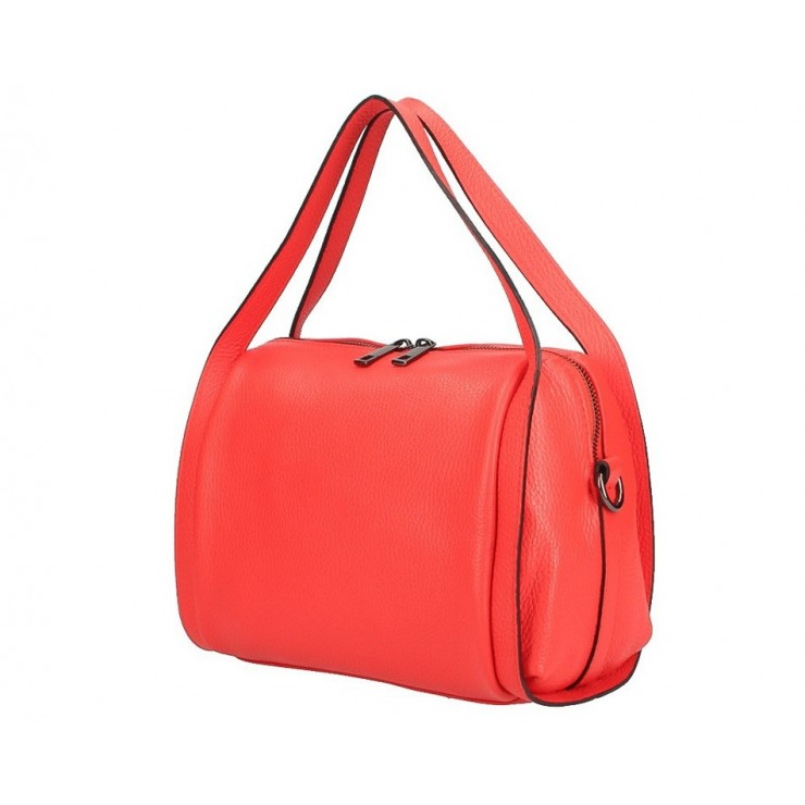 Genuine Leather Handbag 5315 coral
