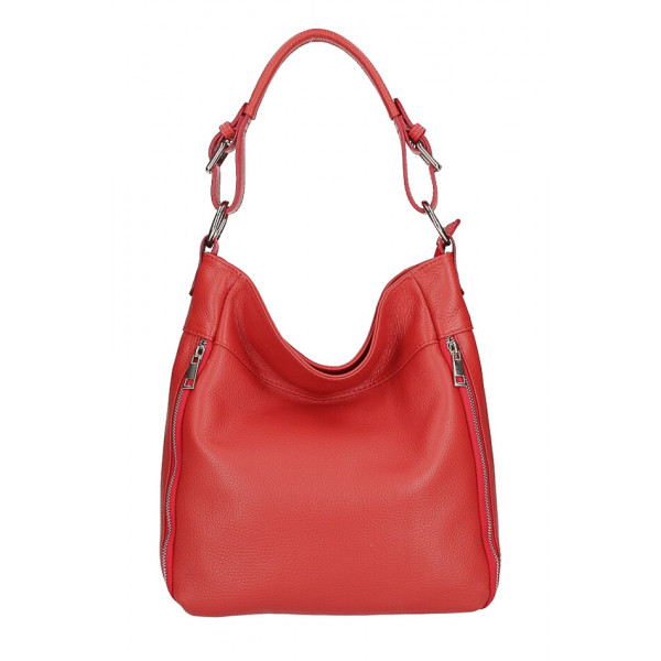 Kožená kabelka MI341 červená Made in Italy