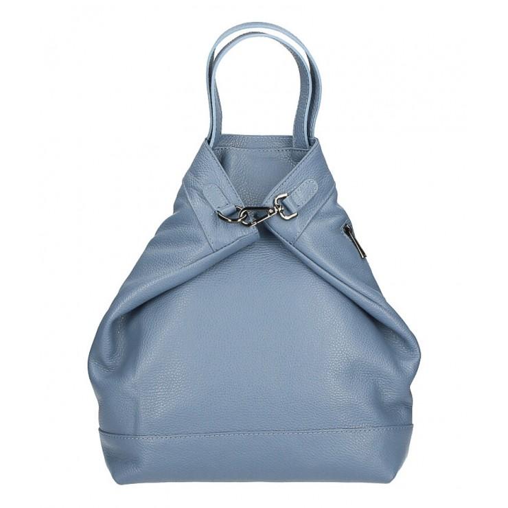 Kožený batoh MI344 nebesky modrý Made in Italy
