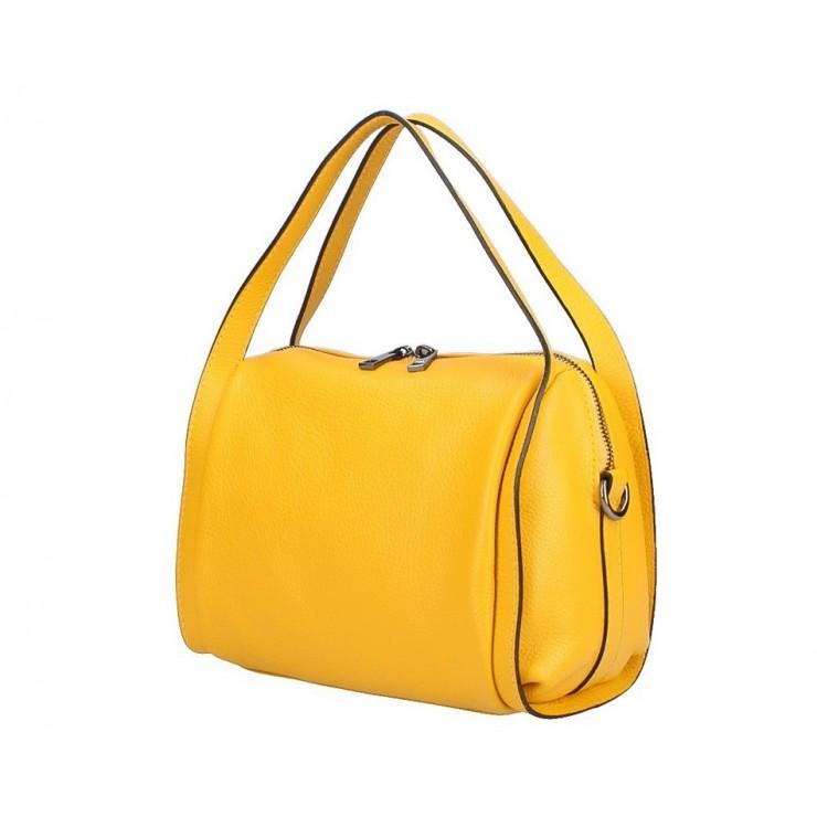 Žltá kožená kabelka 5315
