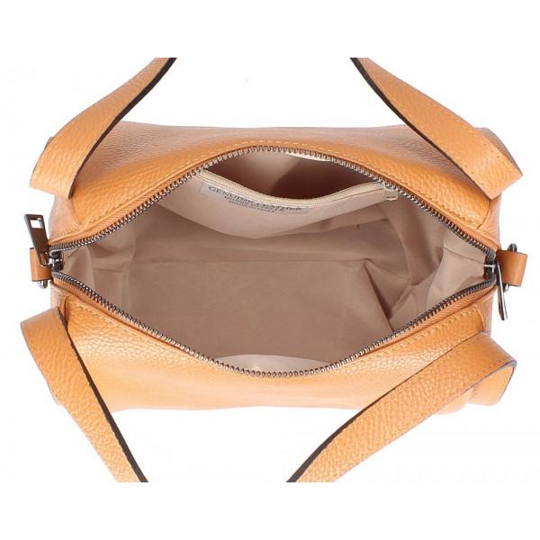 Žltá kožená kabelka 5316
