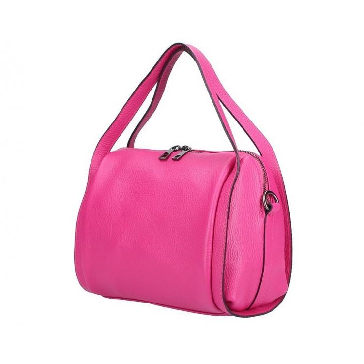 Genuine Leather Handbag 5315 fuxia