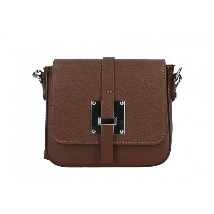 Genuine Leather Shoulder Bag 5328 brown Made in Italy