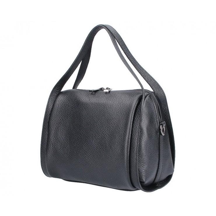 Čierna kožená kabelka 5315