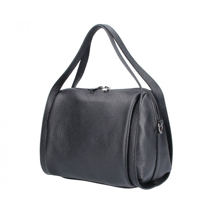 Genuine Leather Handbag 5315 black