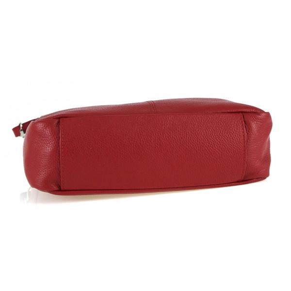Kožená kabelka na rameno 499 tmavozelená Made in Italy Zelená