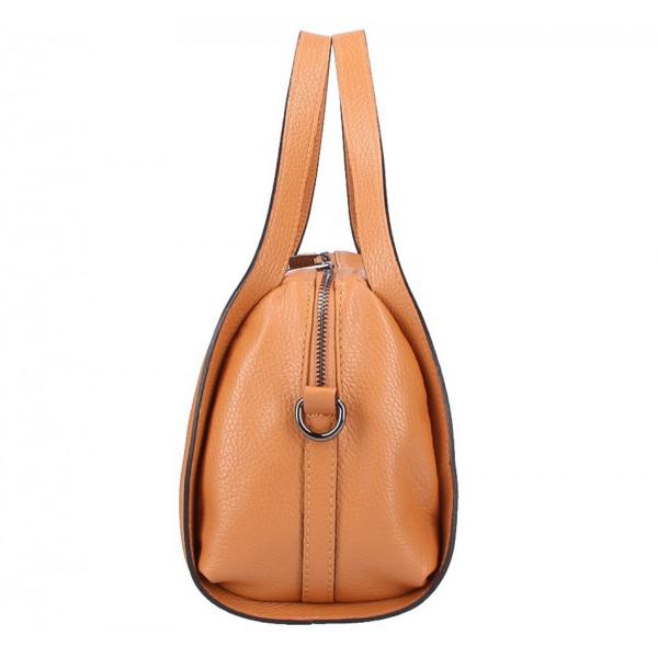 229cbd0e4b Čierna kožená kabelka 5316 - MONDO ITALIA s.r.o.