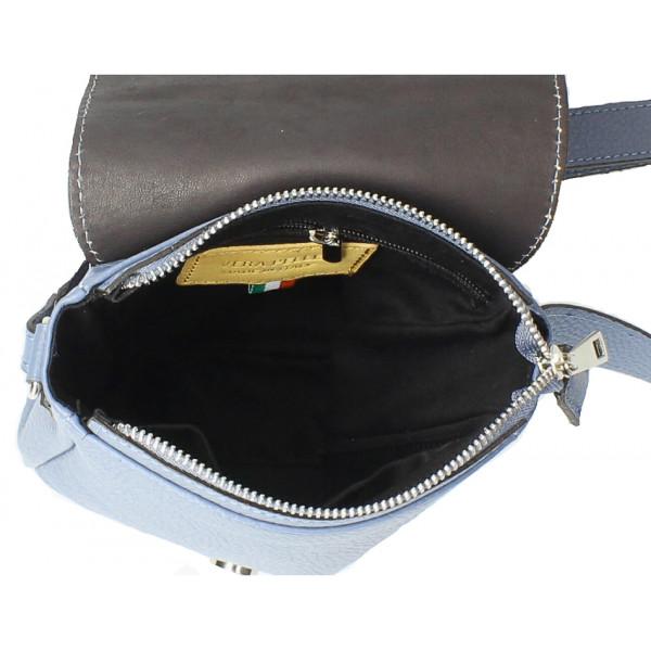 Pánska taška na rameno MI348 tmavomodrá Made in Italy Modrá