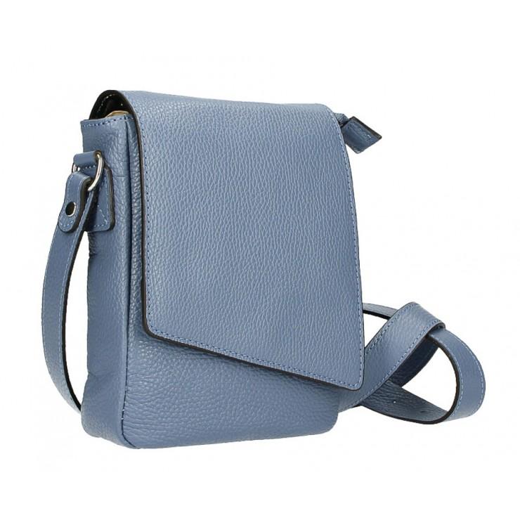 Pánska taška na rameno MI348 nebesky modrá Made in Italy
