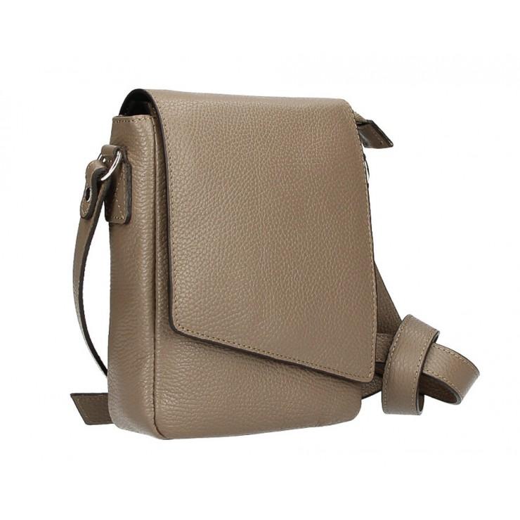 Pánská taška na rameno MI348 tmavě šedohnědá Made in Italy