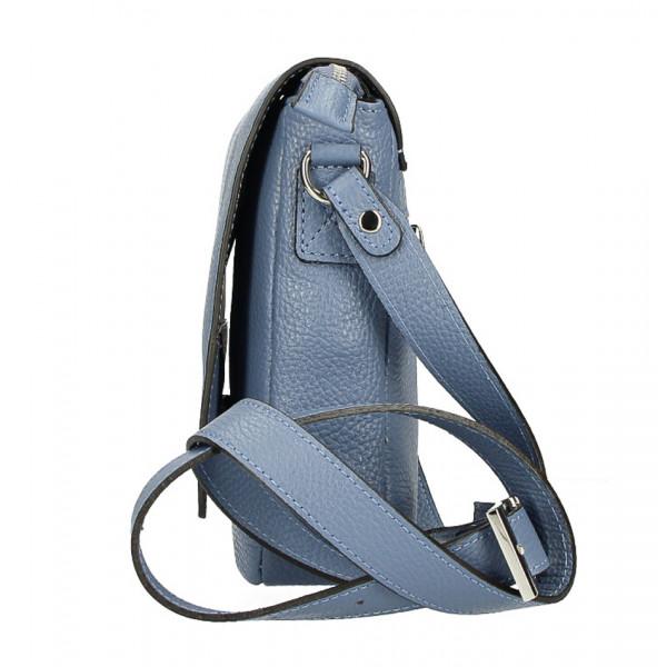Pánska taška na rameno MI348 tmavá šedohnedá Made in Italy Šedohnedá