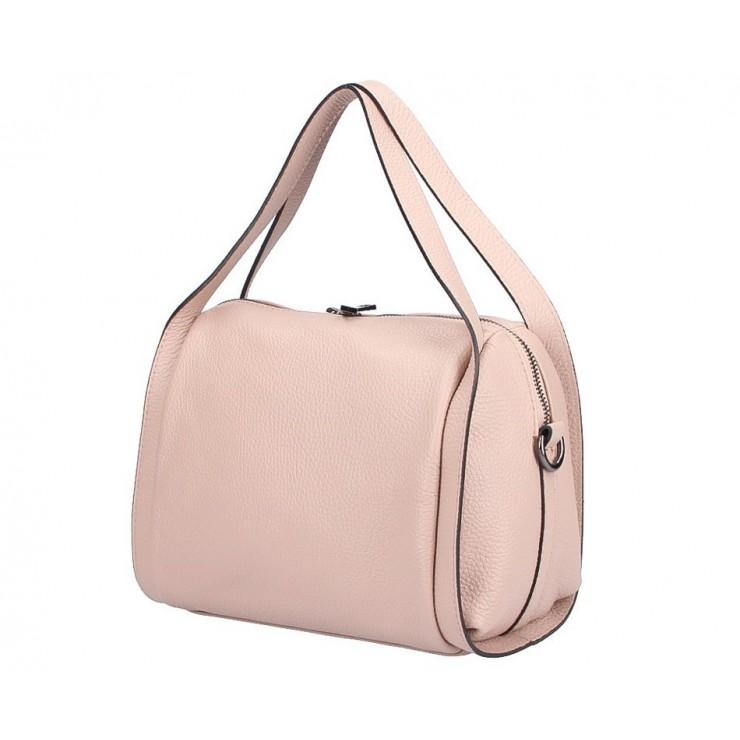 Ružová kožená kabelka 5315