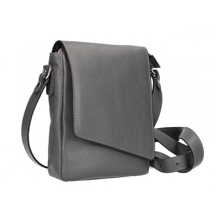 Pánská taška na rameno MI348 tmavě šedá Made in Italy