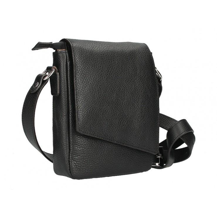 Pánska taška na rameno MI348 čierna Made in Italy