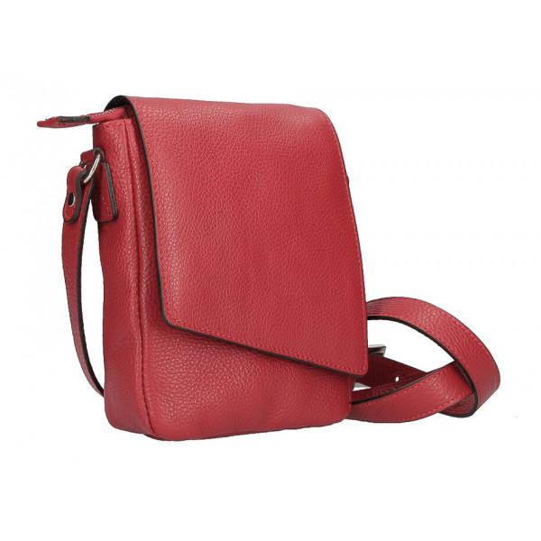 Pánska taška na rameno MI348 červená Made in Italy Červená