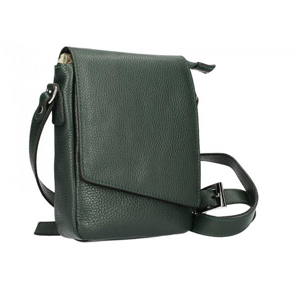 Pánska taška na rameno MI348 tmavozelená Made in Italy Zelená