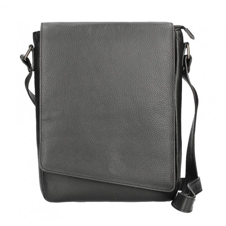 Pánska taška na rameno MI355 čierna Made in Italy