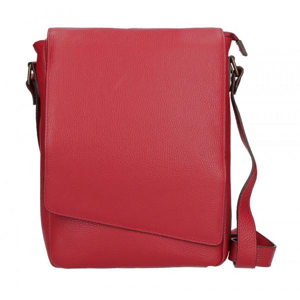 Pánska taška na rameno MI355 červená Made in Italy Červená