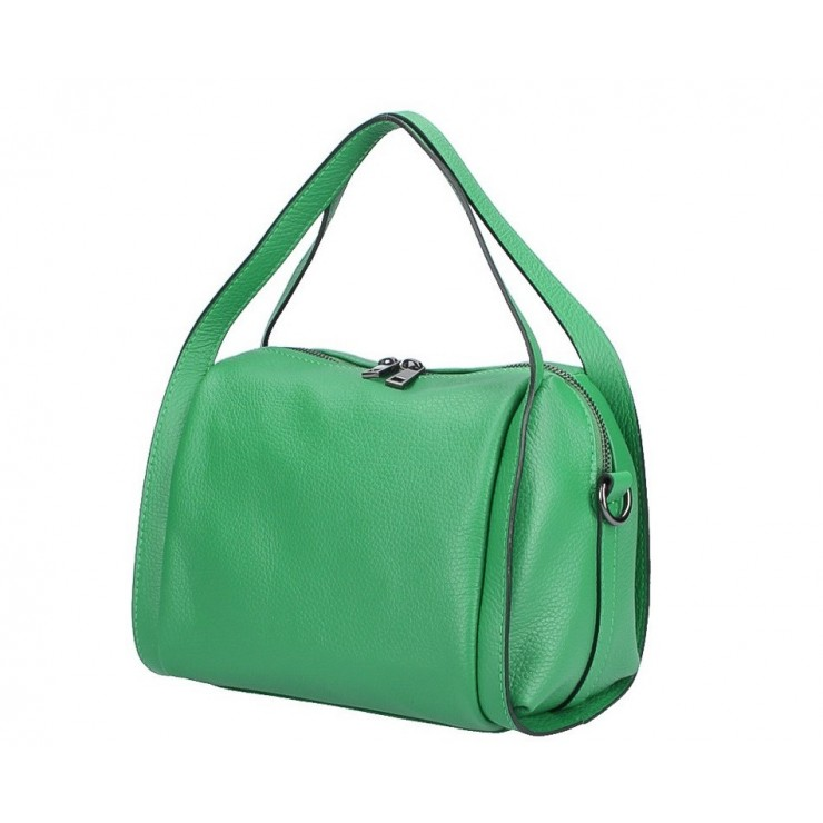 Genuine Leather Handbag 5315 green