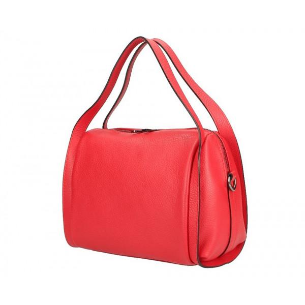 Červená kožená kabelka 5315