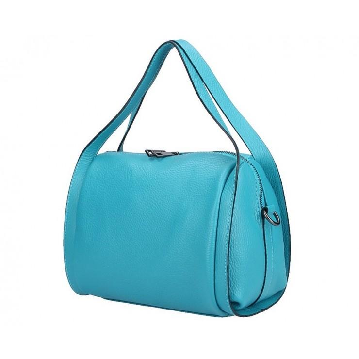 Genuine Leather Handbag 5315 turquoise
