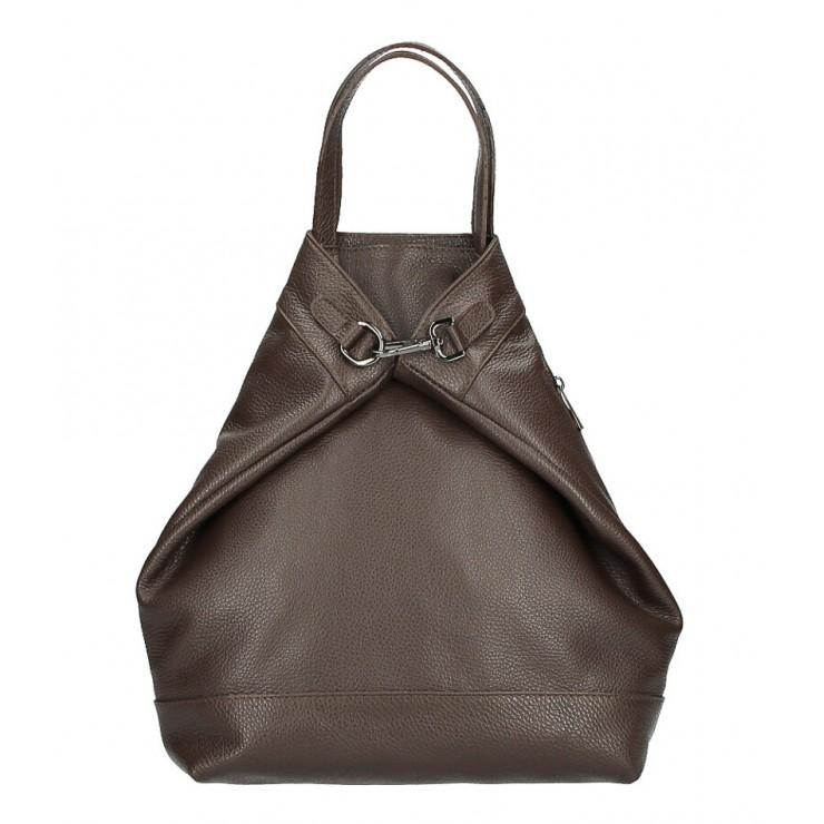 Kožený batoh MI344 tmavohnedý Made in Italy