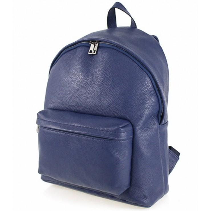 Kožený batoh MI410 modrý Made in Italy
