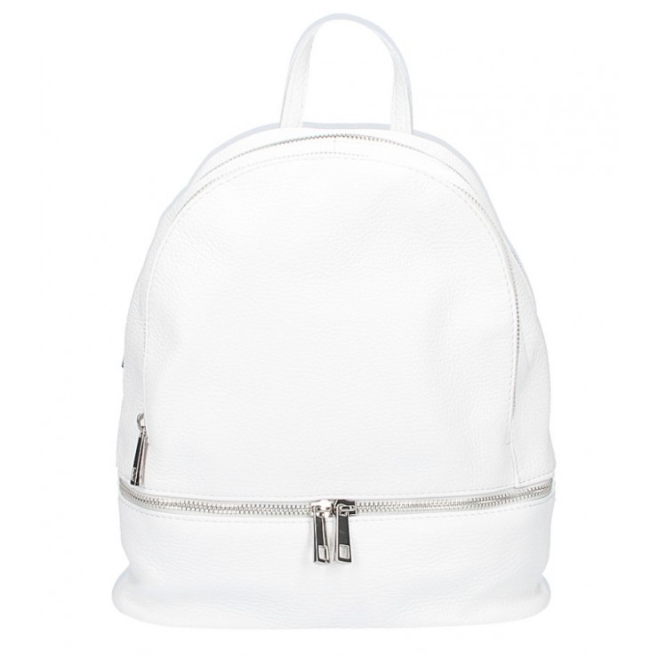 Leather backpack MI1084 white Made in Italy