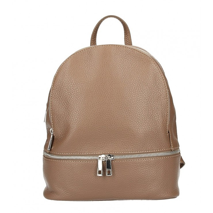 Leather backpack MI1084 dark taupe Made in Italy