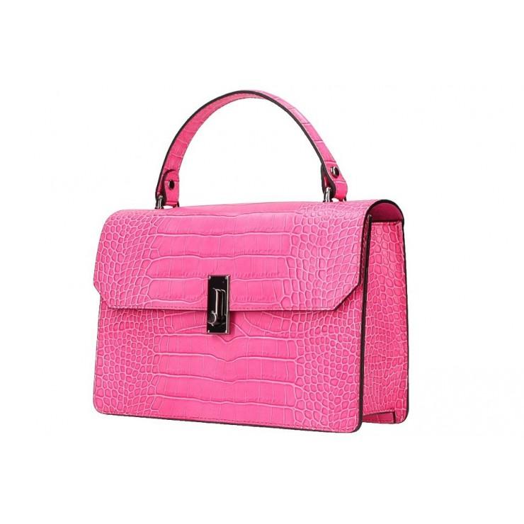 Genuine Leather Handbag 5314 fuxia
