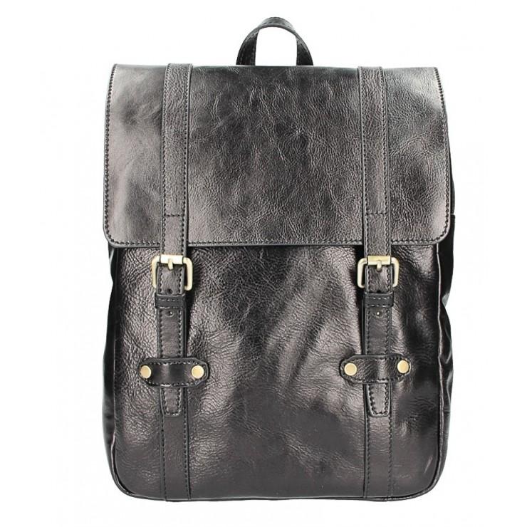 Kožený batoh 5342 čierny MADE IN ITALY