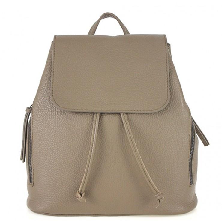Dámsky kožený batoh 420 tmavo šedohnedý Made in italy