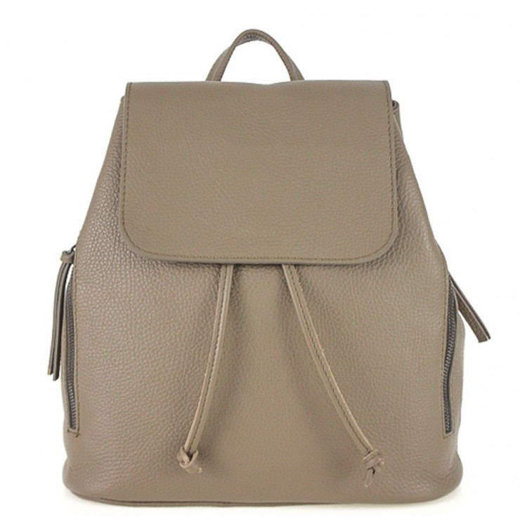 Leather backpack 420 dark taupe Made in Italy