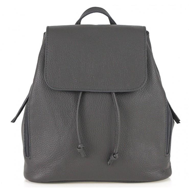 Dámsky kožený batoh 420 tmavošedý Made in italy
