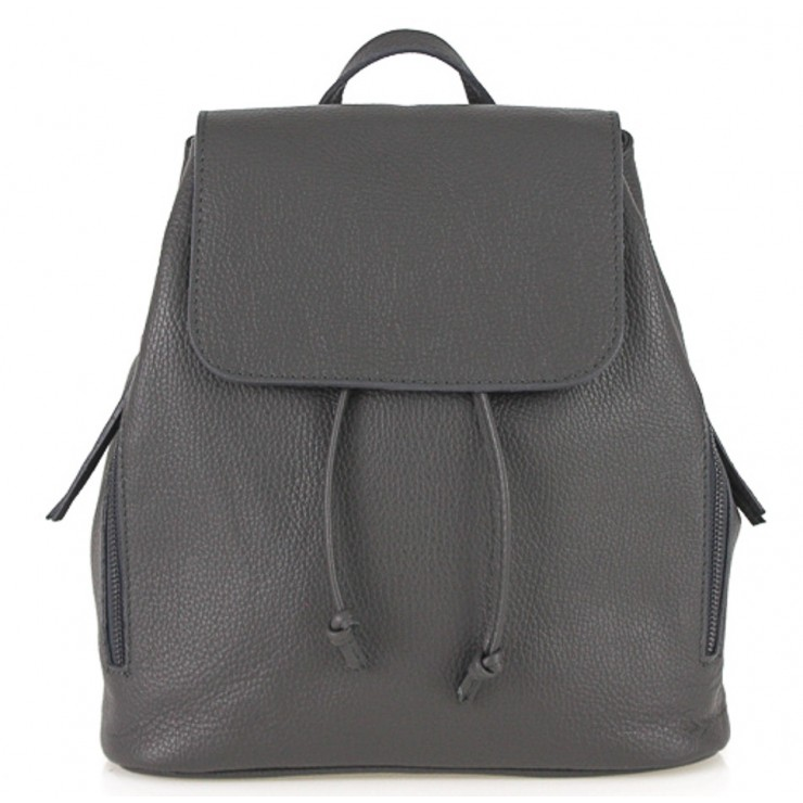 Leather backpack 420 dark gray Made in Italy