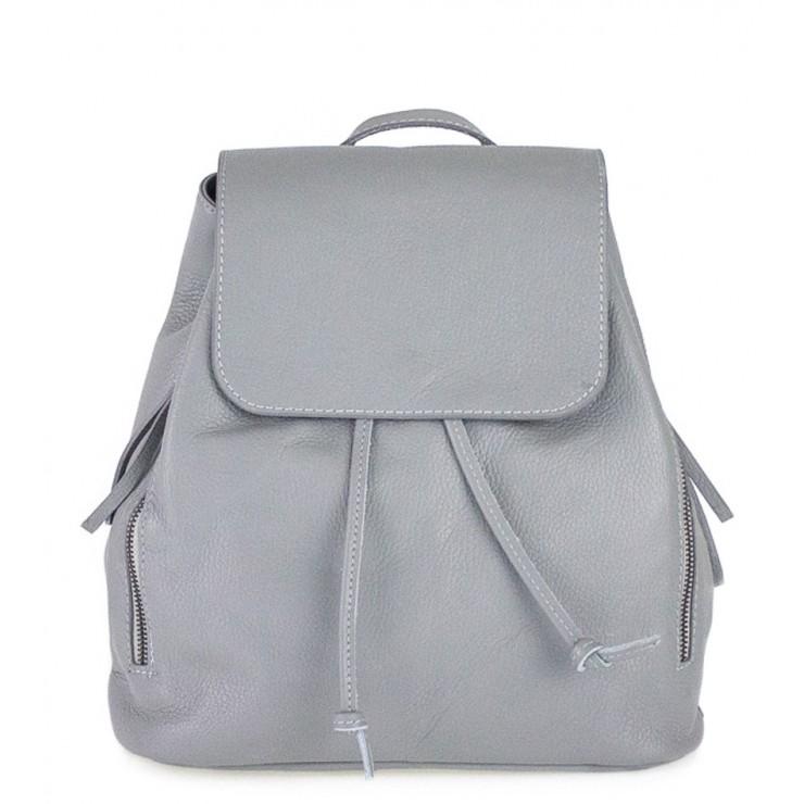 Dámsky kožený batoh 420 šedý Made in italy