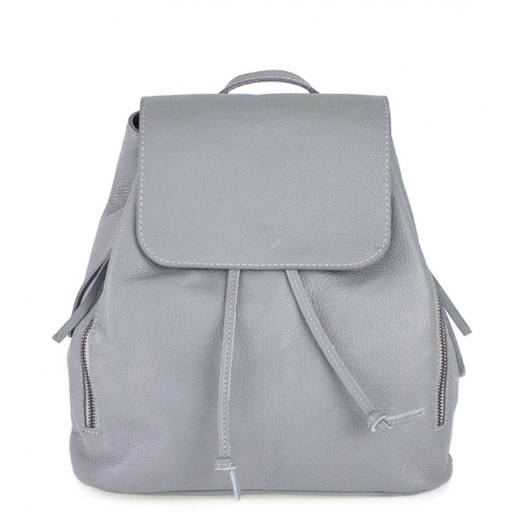 Leather backpack 420 gray Made in Italy