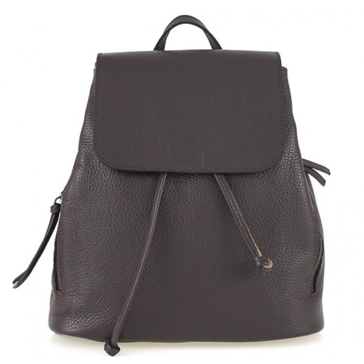 Dámsky kožený batoh 420 tmavohnedý Made in italy