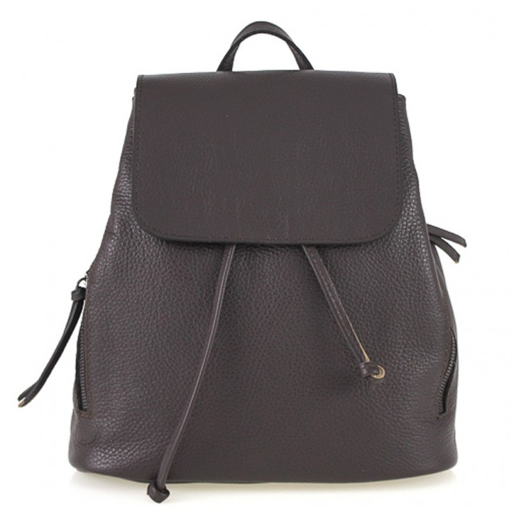 Leather backpack 420 dark brown Made in Italy