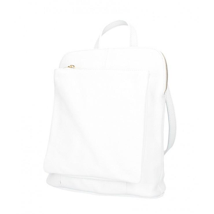Kožený batoh MI899 biely Made in Italy