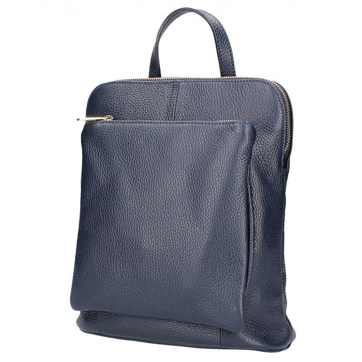 Kožený batoh MI899 tmavomodrý Made in Italy