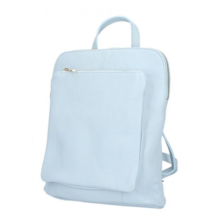 Kožený batoh MI899 nebesky modrý Made in Italy
