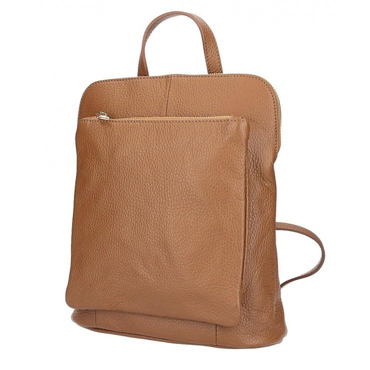 Kožený batoh MI899 koňakový Made in Italy