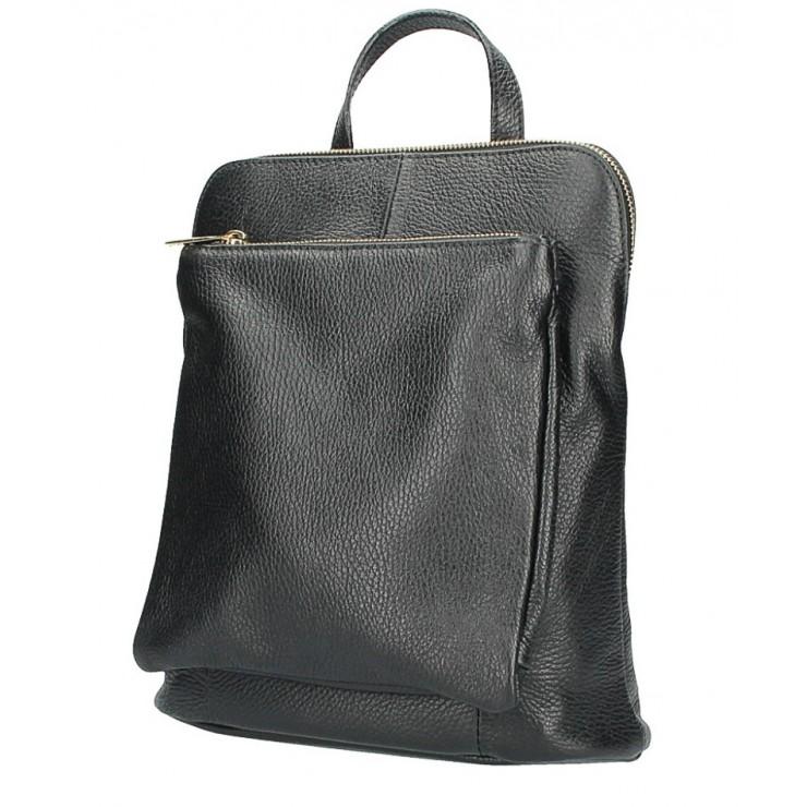 Kožený batoh MI899 čierny Made in Italy