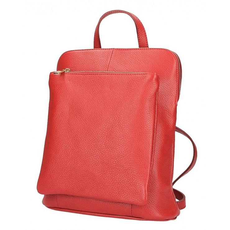 Kožený batoh MI899 červený Made in Italy