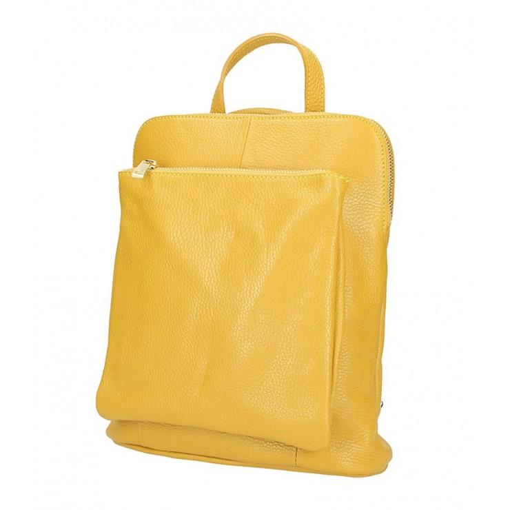 Kožený batoh MI899 okrový Made in Italy